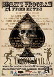 LIVE MUSIC 2009 SEPTEMBER TO DECEMBER