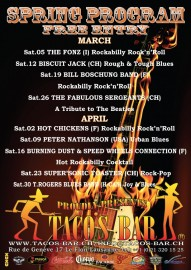 LIVE MUSIC 2011 JANUARY TO APRIL verso