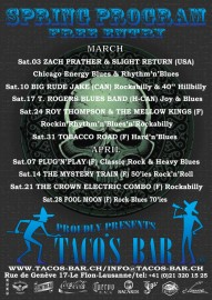 LIVE MUSIC 2012 JANUARY TO APRIL verso