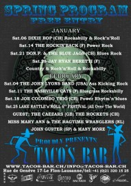LIVE MUSIC 2012 JANUARY TO APRIL